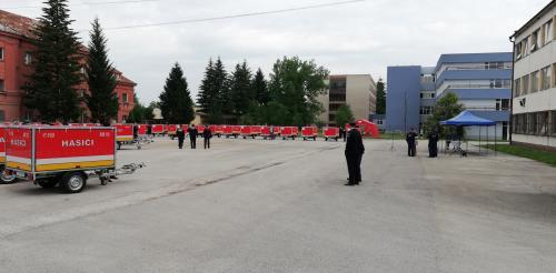 Prevzatie protipovodňového vozíka - 07. jún 2018